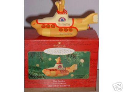 The BEATLES Yellow Submarine Hallmark Ornament 2000