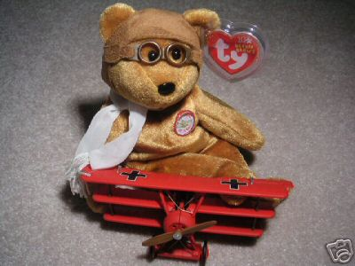 New! RARE!! Ty BROWN BEARON Baron Beanie Baby Bear