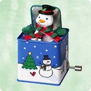 POP! GOES the SNOWMAN Wind-up Hallmark Ornament 2003