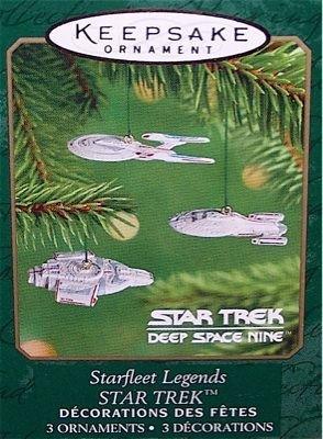 STARFLEET LEGENDS 3 Ornaments STAR TREK Hallmark 2001