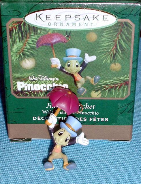 JIMINY CRICKET Ornament 2001 Hallmark Disney Pinocchio