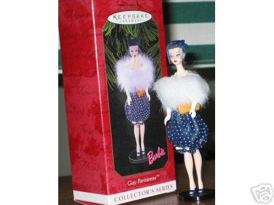 GAY PARISIENNE #6 Barbie Hallmark Ornament 1999 Paris