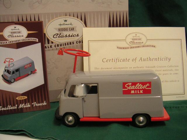 Hallmark Kiddie Car 1960s Sealtest Milk Truck