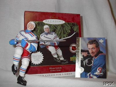 NEW WAYNE GRETZKY #1 Hockey Greats Hallmark 1997 Christmas Ornament Rangers