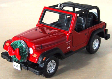 Jeep Christmas Ornament.Jeep Wrangler Sport 4 0 L 2001 Hallmark 60th Anniversary Christmas Orn