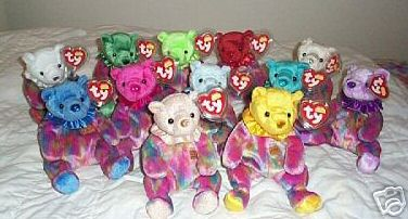 Ty BIRTHDAY Beanie Babies Set of All 12