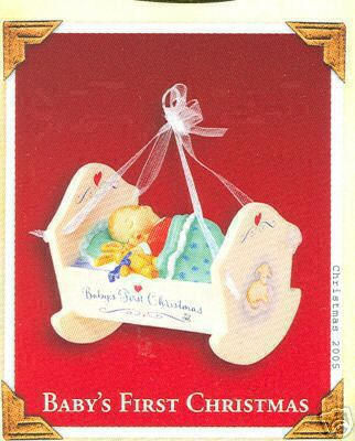 Hallmark 2005 Baby's First Christmas Cradle
