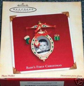 Baby's First Christmas Photo Holder~Mobile~ Hallmark 2005