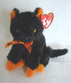 Ty FRAIDY Cat Beanie Baby HALLOWEEN Plush Kitten Kitty