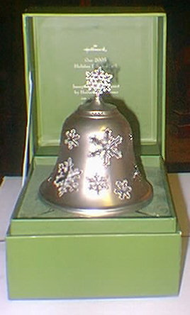 2005 Hallmark Holiday FILIGREE BELL Hand Tooled Metal