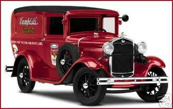 Danbury Mint 1931 Ford Panel Delivery Truck CAMPBELL's Soup