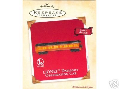 LIONEL DAYLIGHT Observation Car 2003 Hallmark Ornament