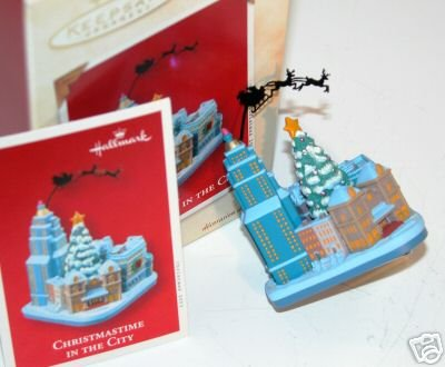 CHRISTMASTIME in the CITY Hallmark Ornament 2003