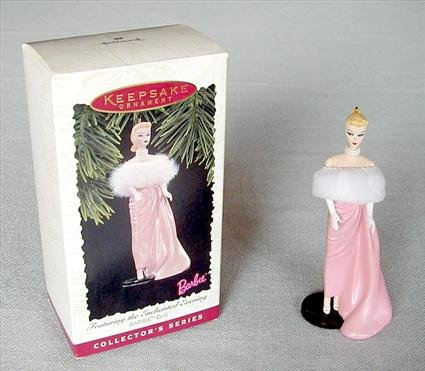 Enchanted Evening Barbie # 3 Hallmark Barbie Series~1996 Christmas Ornament