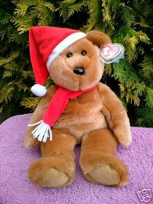 Ty 1997 TEDDY Beanie Baby Holiday BUDDY Bear Christmas~NEW