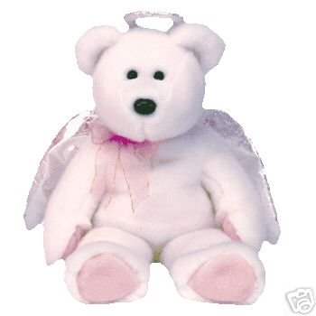 Ty HALO Beanie Baby BUDDY Bear Angel- New