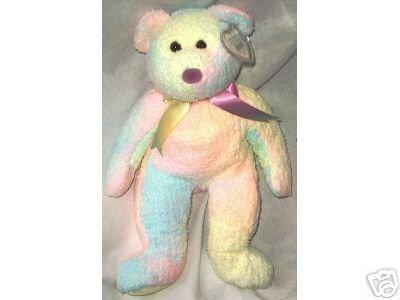 Ty GROOVY Beanie Baby BUDDY Pastel Tie-Dyed~New