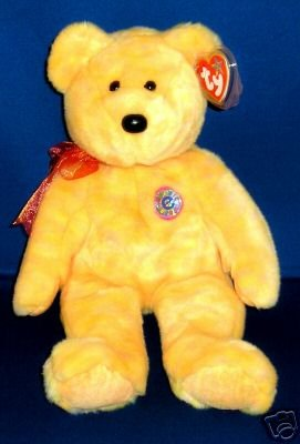 Ty SUNNY Beanie Buddy E-Bear Plush~New