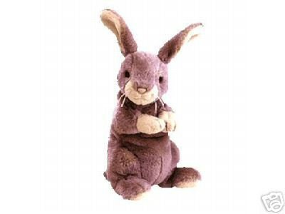 Ty SPRINGY Beanie Baby Rabbit Bunny- New