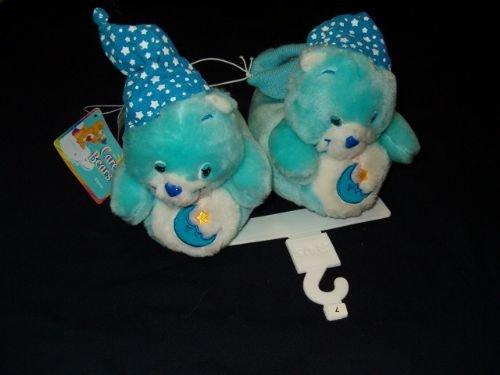 Care Bears Blue BEDTIME Bear Toddler Slippers Sz M or L