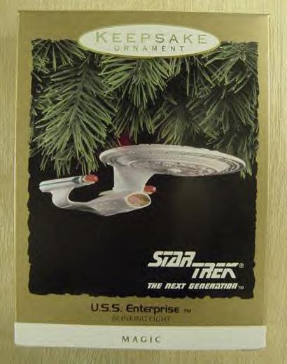 USS Enterprise - Star Trek~The Next Generation~ Hallmark Magic Ornament 1993