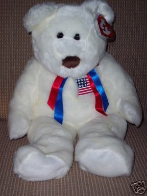 6051f5c0574 Extra Large Ty LIBEARTY Beanie Buddy Bear MWMT 28