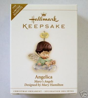 ANGELICA Mary's Angels COLORWAY~REPAINT Hallmark 2006 Ornament