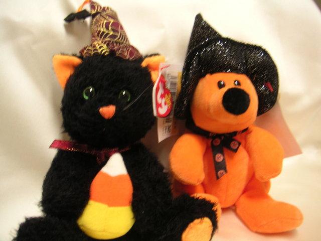 Ty FRIGHTFUL & HAUNTS Halloween Beanie Babies~BORDERS EXCLUSIVE