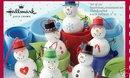 Set of 6 GLITTER MINIATURE SNOWMEN Ornaments Hallmark 2006-in BOX