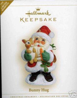BUNNY HUG Santa & Rabbit Hallmark 2006 Limited Christmas Ornament