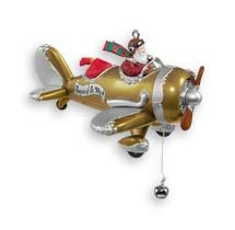 SPIRIT of ST NICK Gold Airplane~Repaint/Colorway~Santa Speaks! Hallmark 2006 Ornament
