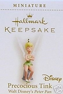 PRECOCIOUS TINK~Mini Tinker Bell~Disney~Peter Pan~2006 Hallmark Ornament