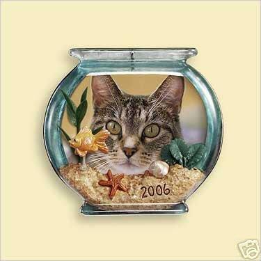 SPECIAL CAT Hallmark 2006 Photo Holder/Magnet Ornament Kitten Kitty