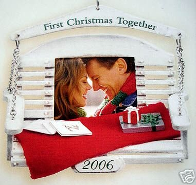 FIRST CHRISTMAS TOGETHER~Photo Holder~Hallmark 2006 Ornament~Swing