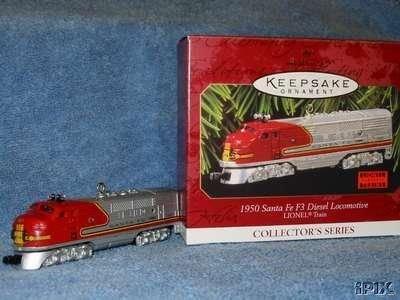 Lionel 1950 Santa Fe F3 Diesel LOCOMOTIVE Hallmark 1997 Train Ornament