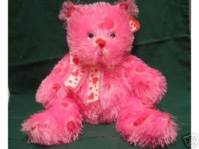 New! VALENTINE'S Day Ty HUGZ Bear PUNKIES Buddy Rare Exclusive PINK 15