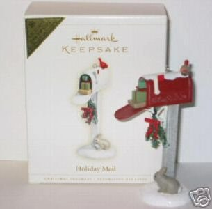 HOLIDAY MAIL 2006 Hallmark Christmas Ornament VIP COLORWAY/REPAINT Mailbox~