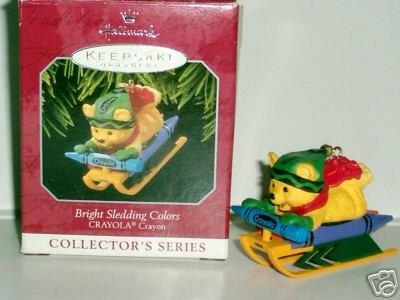 CRAYOLA Series #10 Bright Sledding Hallmark Ornament 1998