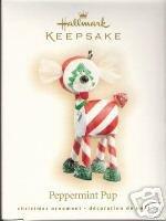 2007 Hallmark~PEPPERMINT PUP~CLUB MEMBER Christmas  Ornament