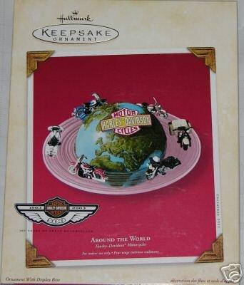 Harley Davidson 100th Anniversary AROUND The WORLD Hallmark 2003 Ornament Set