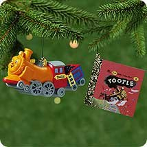 2001 TOOTLE TRAIN Hallmark Ornament + Golden Book