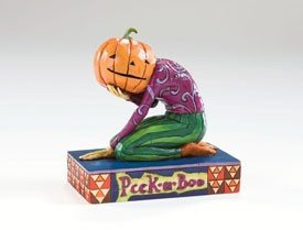 Jim Shore PEEK-A-BOO PUMKIN HEAD~Halloween Figurine~Heartwood Creek