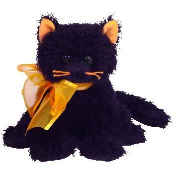 Ty Halloween MOONLIGHT Beanie Baby BLACK CAT