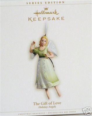 Hallmark 2006~THE GIFT OF LOVE~1st in Holiday Angels Ornament Series