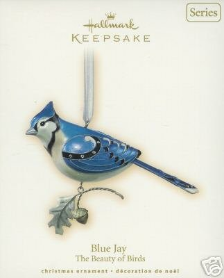 NEW Hallmark 2007 BLUE JAY~3rd - Beauty of Birds Christmas Ornament Series
