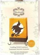 HALLOWEEN PARTY LUMINARY~Hallmark Hauntington~2005~Cackling Witch~Luminary+Batteries
