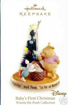 2007 Hallmark~Winnie the Pooh~BABY'S FIRST CHRISTMAS Ornament