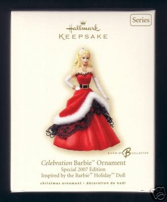 new 2007 Hallmark CELEBRATION BARBIE Doll Ornament 8th in Series