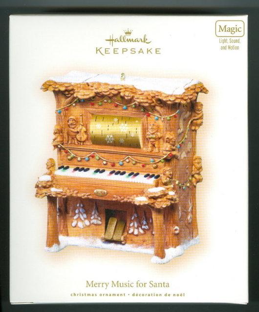 New! Hallmark MERRY MUSIC FOR SANTA Musical Piano 2007 Christmas Ornament