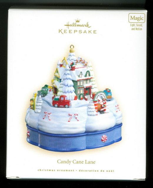 New! Hallmark CANDY CANE LANE Magic: Sound~Motion~Light~ 2007 Christmas Ornament